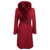 Max Mara Red Wool Coat