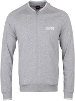 Boss Grey Twin Tipped Zip Through Lightweight Sweatshirt