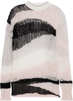 McQ Open-knit Linen And Cotton-blend Sweater