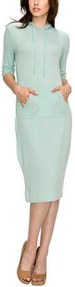 Made by Johnny Women's Casual Dresses MINT - Mint Pocket Hooded Shift Dress - Women & Juniors