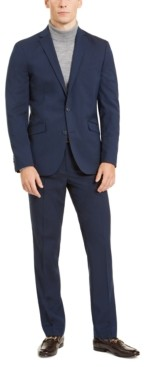 Kenneth Cole Unlisted by Men's Slim-Fit Stretch Navy Suit