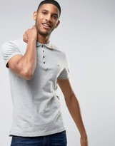Diesel T-Skin Slim Fit Pique Tipped Polo