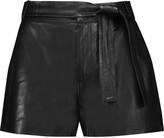 IRO Bridge belted leather shorts