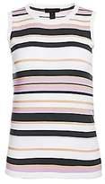 Saks Fifth Avenue Women's Lennox Striped Sleeveless Shell Tee