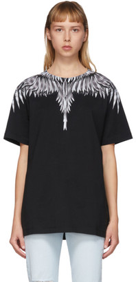 Marcelo Burlon County of Milan Black and White Sharp Wings T-Shirt
