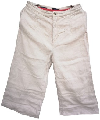 Twin-Set Twin Set Beige Cloth Trousers for Women