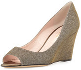 Kate Spade Radiant Sparkly Wedge Pump, Bronze