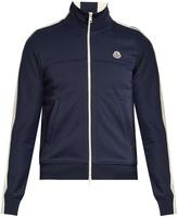 Moncler Contrast-panel zip-up jersey sweatshirt