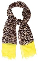 Kate Spade Logo-Accented Leopard Scarf