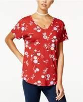 Hippie Rose Juniors' V-Neck T-Shirt