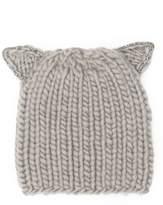Eugenia Kim Women's Felix Cat Ears Wool Knit Beanie - Beige