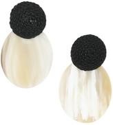 Akola Leather & Horn Drop Earrings
