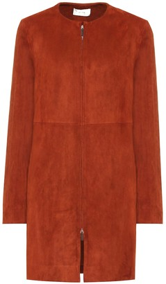 The Row Anka suede coat