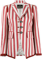 Roberto Cavalli striped fitted blazer - women - Cotton/Hemp/Polyester/Viscose - 40