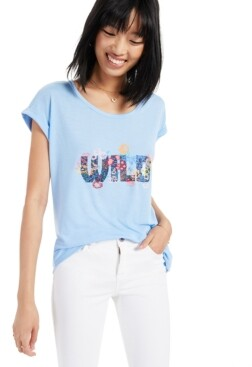 Style&Co. Style & Co Wild Flowers Graphic T-Shirt, Created for Macy's