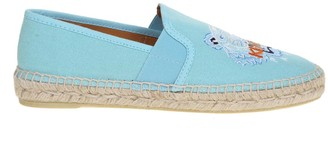 Kenzo Espadrilles In Cotton Canvas With Logo