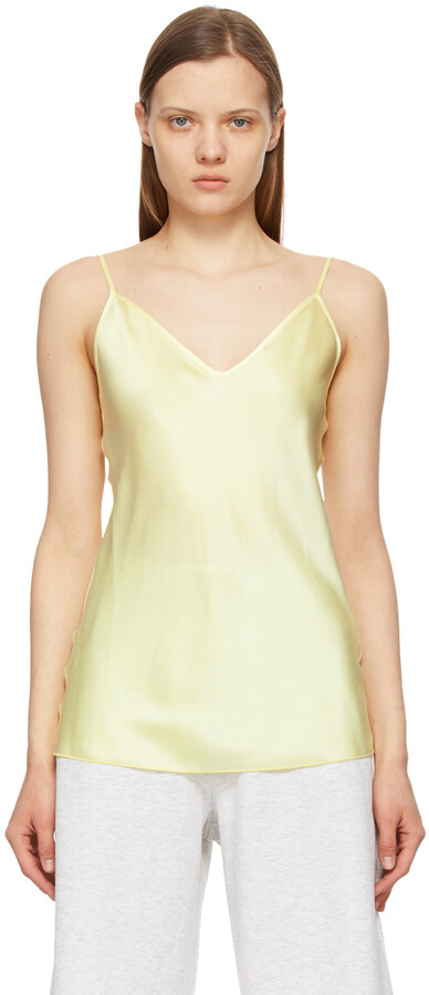 Thumbnail for your product : MAX MARA LEISURE Yellow Silk Luca Tank Top