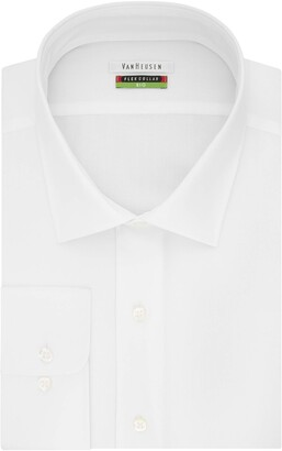 Van Heusen Men's Big-Tall Flex Collar Big Fit Solid Spread Collar Dress Shirt