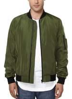 HEMOON Sen's Casual Sportswear Lightweight Baseball Bomber Jacket S