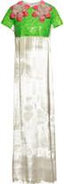 DELPOZO Embellished velvet gown
