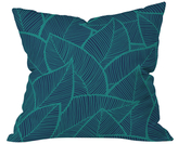 DENY Designs Arcturus Leaves Outdoor Throw Pillow