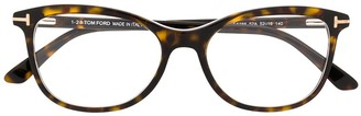 Tom Ford Havana oval-frame glasses