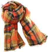 chanvi Plaid Blanket Scarf Women Big Square Scarves Warm Shawl- 3 colors
