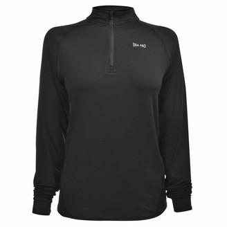 USA Pro Womens Long Sleeve Zip Top Performance Shirt Lightweight Half Print OTH Black 10 (S)