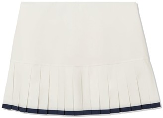 Tory Burch TWO-TONE PLEATED-HEM TENNIS SKIRT