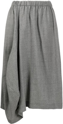Comme des Garçons Comme des Garçons Draped Hounstooth Skirt