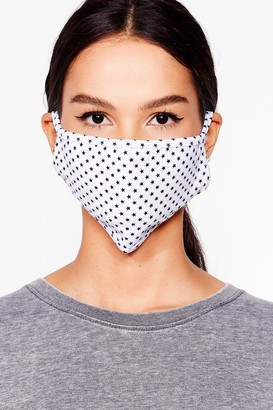 Nasty Gal Womens In Your Face Star Fashion Face Mask - White - ONE SIZE, White