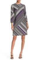 Trina Turk Merry Stripe Printed Shift Dress