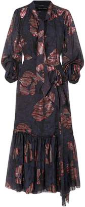 Roland Mouret Dana Cutout Metallic Fil Coupe Silk-blend Chiffon Dress