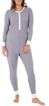 Fruit of the Loom Fit For Me Women's & Women's Plus Waffle Thermal Union Suit Pajama