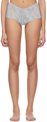 Wolford Blue Katherina Boy Shorts