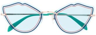 Emilio Pucci cat-eye tinted glasses