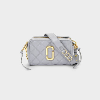 Marc Jacobs The Softshot 21 Bag In Grey Leather