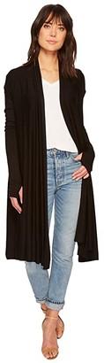 LAmade Waterfall Cardigan Wrap (Black) Women's Sweater