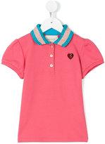 Gucci Kids - metallic collar polo shirt - kids - Cotton/Spandex/Elastane/Viscose/Fluorocarbon Resin - 10 yrs