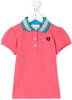 Gucci Kids metallic collar polo shirt