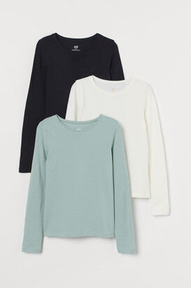 H&M 3-pack Jersey Tops - Green