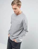 Converse Sweat With Embossed Logo In Grey 10003596-a01