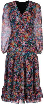 Saloni Devon Crackle Bloom Dress