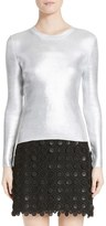 Carven Women's Metallic Knit Sweater