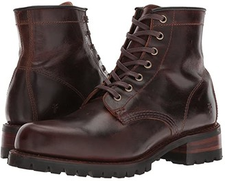 Frye Addison Lug Lace-Up (Black Smooth Pull Up) Men's Lace-up Boots