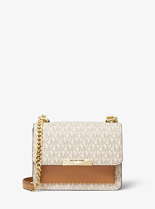 Michael Kors Jade Extra-Small Logo and Leather Crossbody Bag