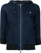 Loveless - denim drawstring hoodie - women - Cotton/Polyester/Polyurethane - 34