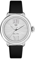 Glam Rock Women's Bal Harbour 40mm Black Satin Band Steel Case Quartz White Dial Analog Watch GR77064