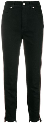 Alexander McQueen Military-Inspired Cropped Jeans