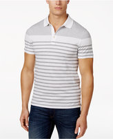 Michael Kors Men's Engineered Striped Cotton Polo